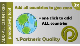 Add all countries to geo zone for OpenCart 3.x