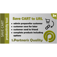 Save Cart As Link for Opencart 3.x