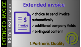 Extended invoice (bi-lingual PDF invoice) for OpenCart 3x