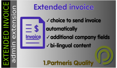 Extended invoice for OpenCart 3x