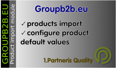 Groupb2b.eu import module for OpenCart 3.x