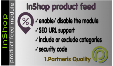Inshop product feed for Opencart 3.x