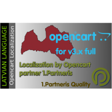 Latvian Language Pack For Opencart 3.x