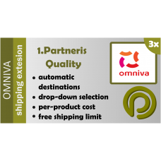 Omniva Shipping Extension for Opencart version 3.x
