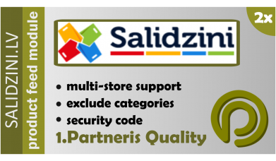 Salidzini.lv Product Feed for Opencart 2.x