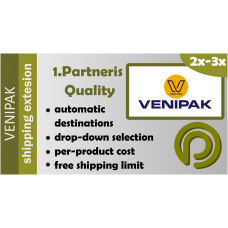 Venipak Pickup for Opencart 2.x-3.x
